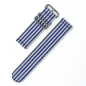 THREE COLOR STRIPE - GRAY/BLUE/WHITE