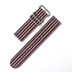 THREE COLOR STRIPE - BLACK/WHITE/RED