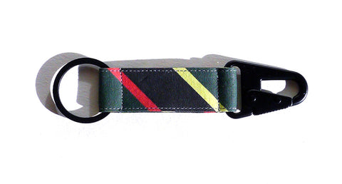 Boating Stripe EDC Keychain - Black/Green/Red/Yellow