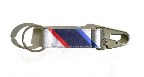 Boating Stripe EDC Keychain - OffWhite/Navy/Blue/Red