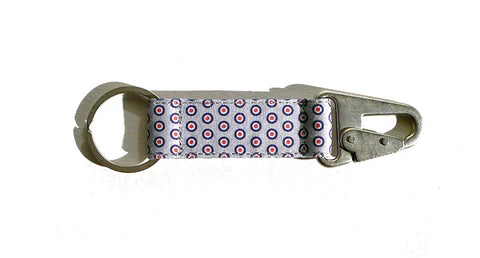 Bullseye EDC Keychain - Grey/Navy/Red
