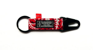 Bedwin & The Heartbreakers Tokyo Collaboration EDC Keychain - Red w/ Black Hardware