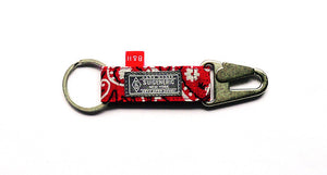 Bedwin & The Heartbreakers Tokyo Collaboration EDC Keychain - Red w/ Silver Hardware