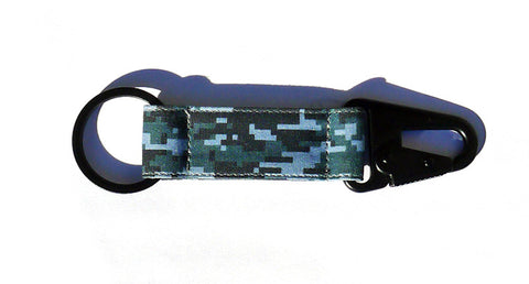 Digital Camo EDC Keychain - Blue/Grey