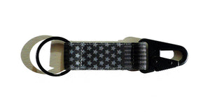 Flag EDC Keychain - Black/Grey