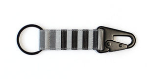 Horizontal Stripe EDC Keychain - Black/Gray