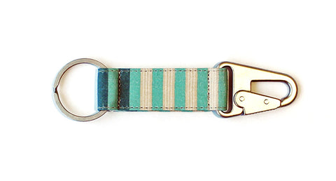 Horizontal Stripe EDC Keychain - Mint