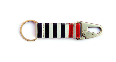 Horizontal Stripe EDC Keychain - OffWhite/Navy/Red