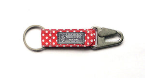 Polka Dot EDC Keychain - Red