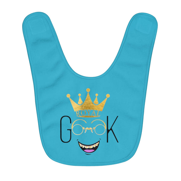 Royal Geek Boys Unisex Infant Fleece Baby Bib