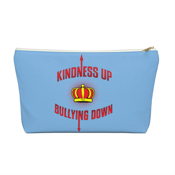 """Crown Me"" Kindness Up Bullying Down  Accessory Pouch w T-bottom"