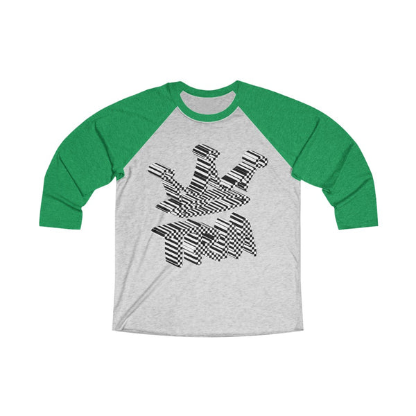 Reppin' TRM The Royal Mix  Adult Unisex Tri-Blend 3/4 Raglan Tee