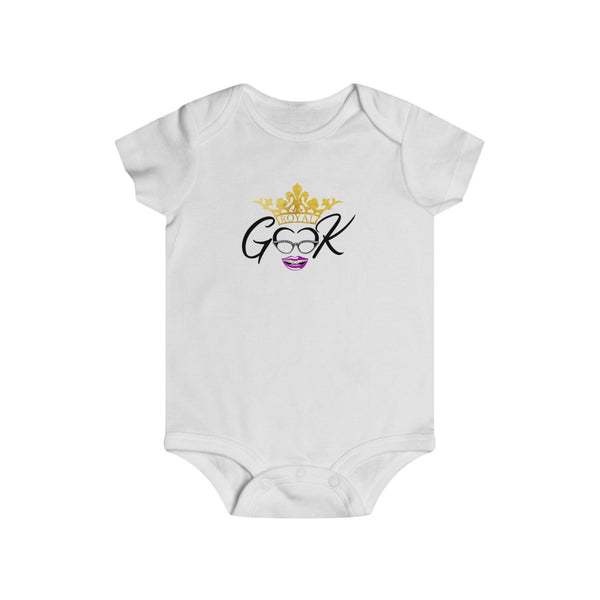 Royal Geek Girls Unisex Infant Rip Snap Tee