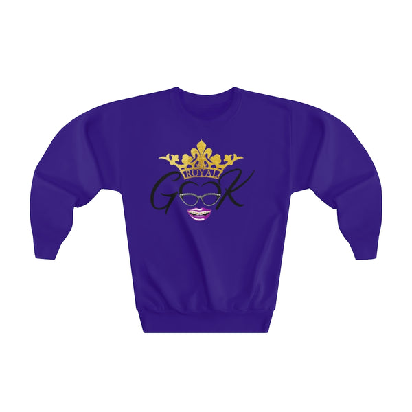 Royal Geek Girls Youth Crewneck Sweatshirt