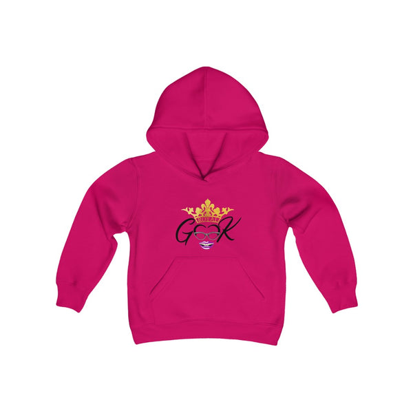 Royal Geek Girls Youth Heavy Blend Hooded Sweatshirt