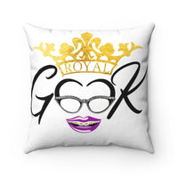 Royal Geek Girls Spun Polyester Square Pillow