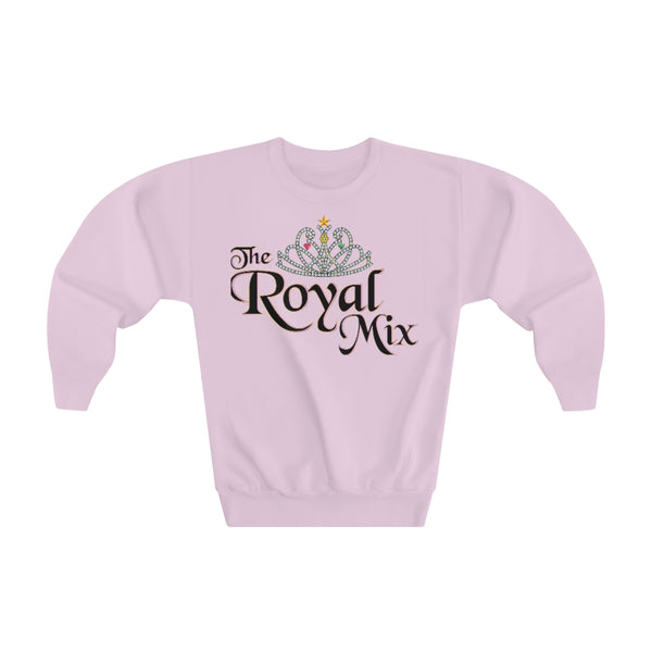 The Royal Mix Princess Girls Youth Crewneck Sweatshirt