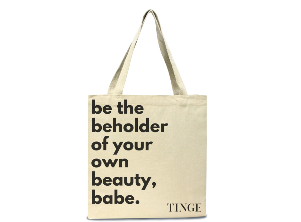 the TINGE mantra tote
