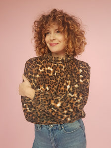 Fleece Jumper in Leopard