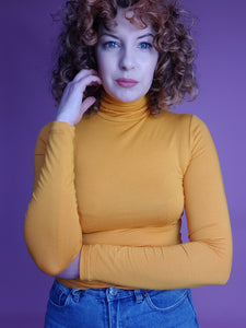 Long Sleeved Turtleneck in Marigold