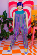 Load image into Gallery viewer, Woven Stripe Dungarees in Purple