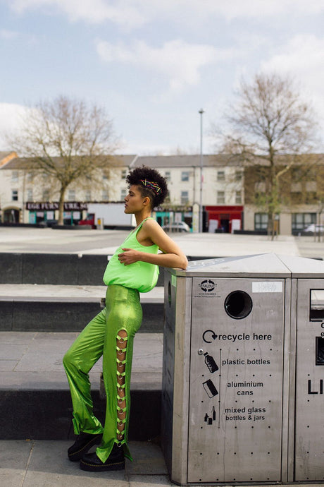 O-Ring Jumpsuit in Neon Green - Jumpsuit - Megan Crook