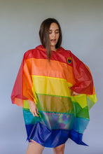 Load image into Gallery viewer, Rainbow Rain Poncho