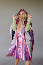 Load image into Gallery viewer, Holographic Rain Poncho in Pink