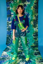 Load image into Gallery viewer, Unisex PU Dungarees in Green