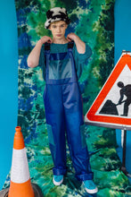 Load image into Gallery viewer, Unisex PU Dungarees in Blue