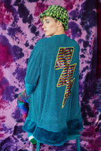 Load image into Gallery viewer, Sequin Lightening Bolt Kimono