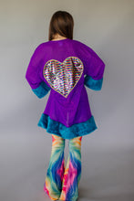 Load image into Gallery viewer, Sequin Heart Kimono