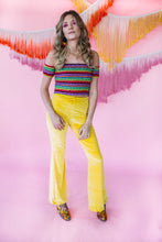 Load image into Gallery viewer, Flares- Velvet- Bright Yellow - Trouser - Megan Crook