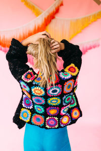 MIY Crochet Starburst Back Cardigan