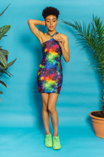 Load image into Gallery viewer, O-Ring Halter Dress in Cosmic Print. - Dress - Megan Crook