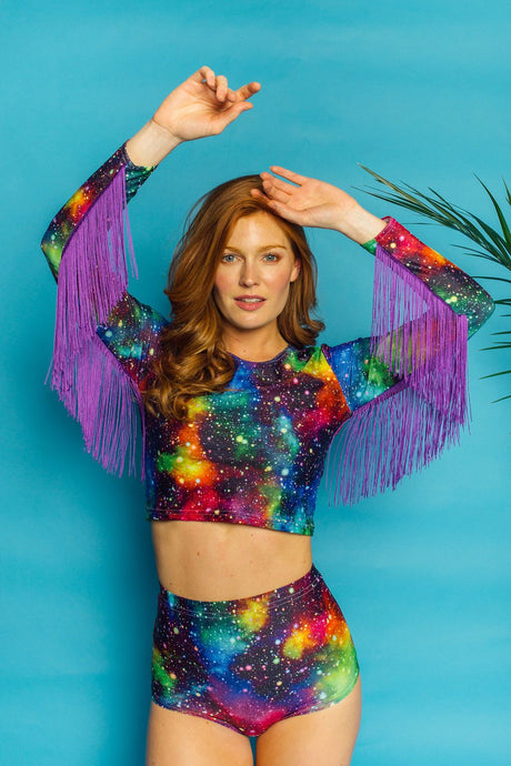 Fringe Crop Top in Cosmic - Top - Megan Crook