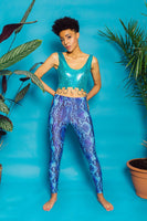 Leggings in Blue Viper Print - Leggings - Megan Crook