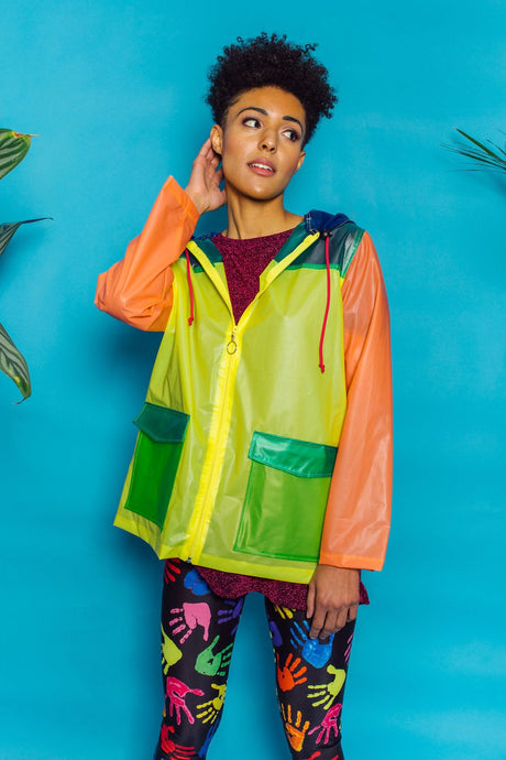 PU Multi Colour Raincoat