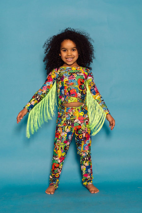 Leggings in Doodle Print -KIDS. - Leggings - Megan Crook