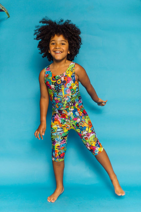 Unitard in Monster Print - KIDS
