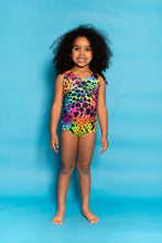 Load image into Gallery viewer, Swimming Costume in Rainbow Animal Print - KIDS