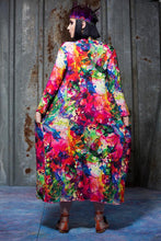 Load image into Gallery viewer, Jersey Maxi Cardigan / Kimono in Watercolour Digital Print Jersey - Cardigan - Megan Crook