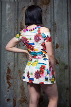 Load image into Gallery viewer, Cold Shoulder Crop Top in Floral Digital Print Jersey - Top - Megan Crook