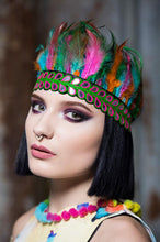 Load image into Gallery viewer, Feather Headdress in Multi - Accessories - Megan Crook