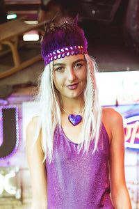 Feather Headdress in Purple - Accessories - Megan Crook