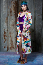 Load image into Gallery viewer, Jersey Maxi Cardi in Floral Digital Print Jersey - Cardigan - Megan Crook