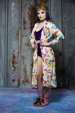 Load image into Gallery viewer, Jersey Maxi Cardi in World Map Digital Print Jersey - Cardigan - Megan Crook