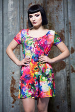 Load image into Gallery viewer, Swing Dress in Watercolour Digital Print Jersey - Dress - Megan Crook