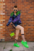 Load image into Gallery viewer, Mini Satchel Bag in Neon Green - Bag - Megan Crook