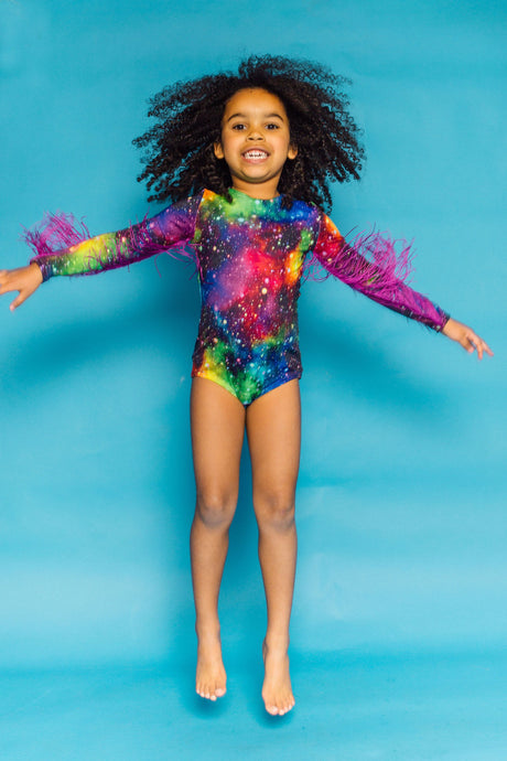 Cosmic Fringe Bodysuit in Cosmic - KIDS. - Bodysuits - Megan Crook